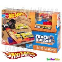 Mainan Track Hot Wheels Track Builder Rapid Launcher + Die Cast ORI