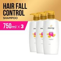 Pantene Sampo Hairfall Control 750ml Paket isi 3