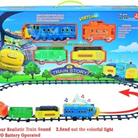 TRAIN STORY 14 PCS MAINAN ANAK CHUGGINGTON