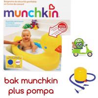 Jual Bak Mandi Bayi Munchkin dan Pompa Injak Mini / Baby Bathtub Munchkin Murah