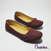 Sepatu Flat Shoes / Flatshoes Wanita Genio NH10 Maroon / Beauty Shoes