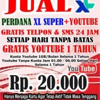 PERDANA XL GRATIS YOUTUBE 1 TAHUN & GRATIS TELEPON DAN SMS 24 Jam