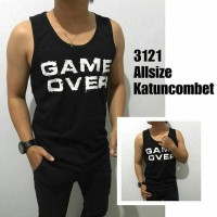 TANKTOP / SINGLET FITNESS / GYM HITAM GAMW OVER / CLOUD