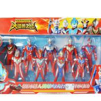 Figure set Ultraman 9pcs / Mainan Anak / Ultraman Ginga