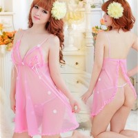 Jual Baju Tidur Sexy Lace Lingerie Dress G string Lace Flowery Hannah Murah