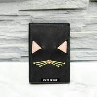 JUAL PASSPORT HOLDER KATE SPADE CAT JAZZ BLACK ORIGINAL