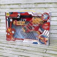 Mainan Pistol Busa Iron Man Soft Bullet BLASTER SB287 / Replika NERF