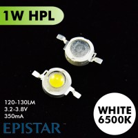 1W High Power Led 6.500K WHITE Emitter 120-130lm Taiwan EpiSTAR NO.PCB
