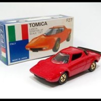 TOMICA ITALY F27 LANCIA STRATOS HF 1/57 TOMY MADE IN JAPAN NEW