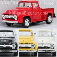 Diecast Ford F-100 Pick Up '56 Miniatur Mobil Klasik Truk Kinsmart