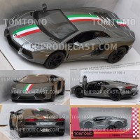 Diecast Lamborghini Aventador Miniatur Mobil Mobilan Sport Mainan Anak