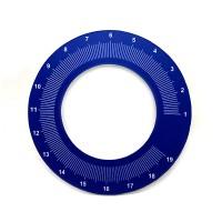 MAHLKONIG EK43 Micrometric Retina Dial PVC V1 Blue