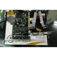 SERIAL RS232 4 PORT 9 PIN MALE PCI CARD