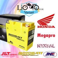 Aki Motor Honda Megapro Motobatt MTX5AL Aki Kering