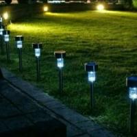 lampu taman tenaga matahari led otomatis tanpa listrik tanpa kabel