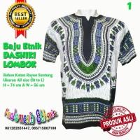 Harga baju etnik dashiki hippies boho batik warna putih untuk pria | antitipu.com