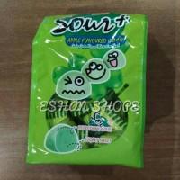 Lot 100 Sour plus Gummy apple /candy / candies 100 Gr