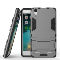 Hard Soft Case Lenovo A6010 Plus Casing HP Silikon Cover Armor Stand