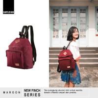 Jual Ori  Tas Ransel Backpack Mini Wanita - Rayleigh New Finch Maroon Murah