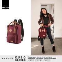Jual Ori  Tas Ransel Backpack Mini Wanita - Rayleigh Kubo Maroon Murah