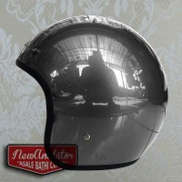 Helm Bogo glossy Abu Custom 500 Retro Bisa add Lis Chrome List Krum