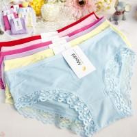 Jual HO25358W Celana Dalam Wanita Murah Simpel Lace Size M #Seri 1 Murah