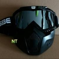 Goggle Mask Ose kaca warna silver iridium original.Bukan kaca helm LTD