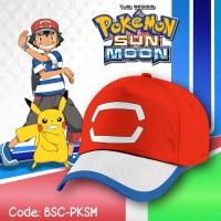 Jual [ANIME/GAME] Topi Fullprint Pokemon Sun & Moon Ash Ketchum / Satoshi Murah