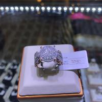 cincin berlian eropa model bulat full diamond emas putih high quality