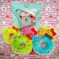 Jual Best Seller Squishy Medium Donat Hello Kitty - Squishy Donut HK Slow Murah