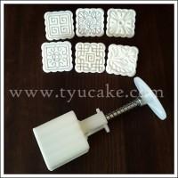 4,5X4,5cm-SMALL-SQUARE-Mooncake Mold Putih