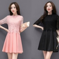 Jual Dress Wanita Import Baju Import Brokat 635 Murah