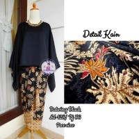 Kebaya Blouse Batwing Black Plus Ring