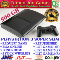 Jual PS3 PS 3 SONY PLAYSTATION 3 SUPER SLIM 500 GB OFW REFURBISH + REQ GAME Murah