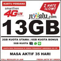Kartu Perdana Smartfren 4G LTE Kuota 13 GB ( 3GB + 10GB = 13GB )
