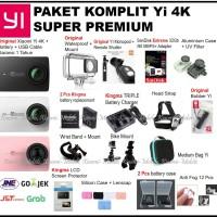 Jual Paket Komplit Super Premium Xiaomi Yi Versi 2 4K Action Camera Murah