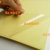 PLASTIK LAMINASI GLOSSY A4 100 GSM - COLD LAMINATING GLOSSY FILM