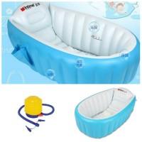 Jual NEW Paket Intime Baby Bath Tub Blue + Pompa Bestway 5 inch/ Bak Mandi Murah