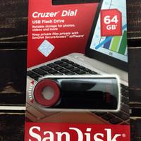 Flashdisk USB Sandisk Cruzer Dial 64GB CZ57 GARANSI RESMI