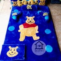 Karpet bulu rasfur, grosir karpet karakter, karpet karakter pooh