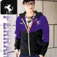 Jual [Jkt Man FERRARI Purple LT] jaket pria polyterry ungu Murah