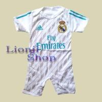 Jual Baby Jumper / Baju Bola Bayi Cowok Real Madrid Home Murah