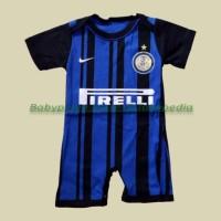 Jual Jumper / Romper Bola Bayi Baju Bayi Laki Inter Milan - Home Murah