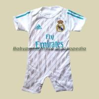 Jual Jumper / Romper Bola Bayi Baju Bayi Laki Real Madrid - Home Murah