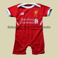 Jual Jumper / Romper Bola Bayi Baju Bayi Laki Liverpool - Home Murah