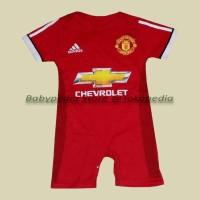 Jual Jumper / Romper Bola Bayi Baju Bayi Laki Manchester United - Home Murah