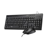 Rapoo NX1710 Multimedia Set Wired Keyboard dan Mouse - Hitam Garansi