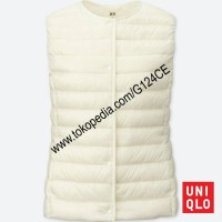 ROMPI WANITA UNIQLO COMPACT Vest ULTRA LIGHT DOWN 400716 PUTIH WHITE