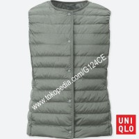 ROMPI WANITA UNIQLO COMPACT Vest ULTRA LIGHT DOWN 400716 ABU GREY 03