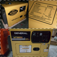 genset disel silent general 5kva/1ph mt6800 BARU i